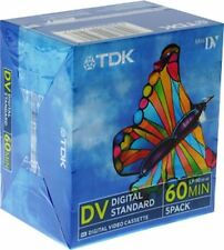 5 TDK Mini DV Premium 60 min DVC MiniDV Cassette Camcorder Video Tape