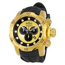 Invicta Venom Chronograph Gold and Black Dial Black Silicone Mens Watch 20443