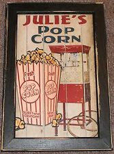 Personalized Home Theater Movie Cinema Snack Bar Peanuts Popcorn Machine Sign