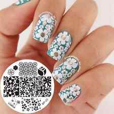 Mixed Flower Nail Art Stamp Template Image Stamping Plate BORN PRETTY 20