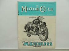 July 1952 THE MOTORCYCLE Magazine Matchless Clubman Model G80 L8330