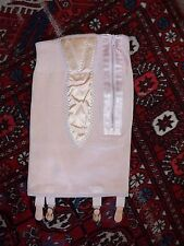 Vintage 40s NATURFLEX Pink RAYON & RUBBER 4 Suspenders Girdle ART DECO Pin Up S