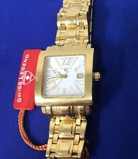 NEW Swiss Legend Women's Watch Gold Square MOP Roman Numeral Dial (5I)