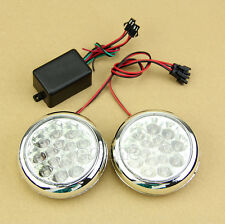 2x 15 12V  LED Round Daytime Running Driving Lights DRL Front Fog Tail Work Lamp