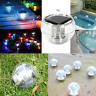 Solar Floating Pond Pool Rotate RGB Lamp LED Lawn Garden Light Color Changing