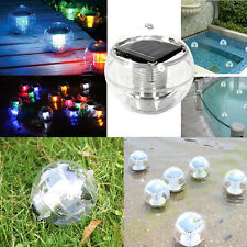 Solar Floating Pond Pool Rotate RGB Lamp LED Lawn Garden Light Color Changi
