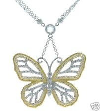Joseph Esposito Solid 925 Sterling Silver Butterfly Necklace '