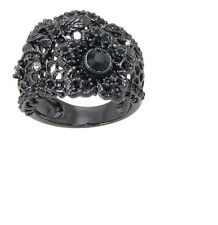 Disney Couture Snow White Black Flower Lace Ring for Women - Size 8