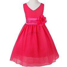 Communion Party Prom Princess Pageant Bridesmaid Wedding Flower Girl Dress 6Y