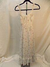 Vintage GUNNE SAX by Jessica Floral Maxi Boho Prairie Dress INV#890