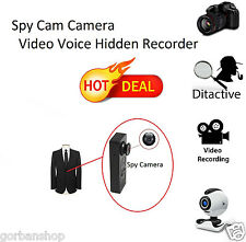 Mini Button Pinhole Spy Cam Camera Video Voice Hidden Security DVR Recorder