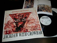 """Jackdaw With Crowbar """"Hanging In The Balance"""" LP insert Hax – HAX 04 Italy 1991"""
