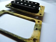 BUCKEYE BURL wood pickup guitar mounting rings for 6 STRING UNCOVERED PICKUPS!