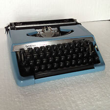 BROTHER CHARGER 11 Small Size Lightweight Portable Typewriter - blue - NO RIBBON