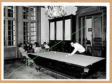 Photo 18 x 13 vintage partie de billard français snooker 1974 gd030