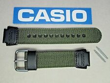 Genuine Casio Twin Sensor SGW-300HB watch band strap green nylon black leather