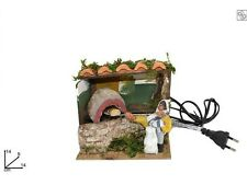 NATALE PANETTIERE IN MOVIMENTO 12,5 cm Presepe Forno Mestieri Pastori Pane 95263