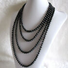 """100"""" 7-8mm Black Freshwater Pearl Strand Necklace"""