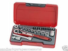 "TengTools 24pc 1/4""dr Socket Set Supplied in a snap lock case T1424 Quality Set"