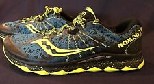 BRAND NEW ~ Men's Trail Running Shoes SAUCONY Nomad TR Blue/Yellow Nice-Size 9.5