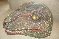 Vintage Dinosaur Mask Raptor Fright Asylum 1997 Halloween Jurassic Park