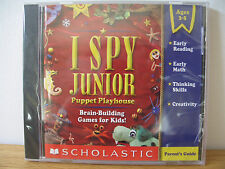 I SPY JUNIOR PUPPET PLAYHOUSE BRAIN-BUILDING GAMES FOR KIDS PC/MAC NEW