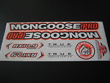 Mongoose PRO RX 10.9 Titanium Stickers White, Black & Orange.