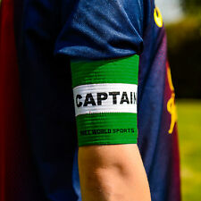 Football Captains Armband WHITE/Green JUNIOR Arm Band [Net World Sports]