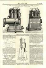 1894 Bumstead Chandler Compound Three Crowned Yacht Engine Mushkaf Bolan Railway