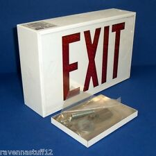 HUBBELL LED2-EM-RWW, 2-SIDED EXIT SIGN 120/227 VAC, 60HZ (NEW IN BOX)