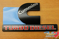 Dodge Ram 2500 3500 BLACK Cummins Turbo Diesel Decal Nameplate Emblem Mopar OEM