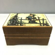 VINTAGE REUGE SWITZERLAND SAINTE CROIX WOOD MUSIC BOX PLAYS LARA'S THEME