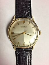 WITTNAUER  AUTOMATIC WATCH Keeps Time 17 JEWEL 11ARB Movement  10k GF Case