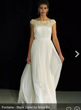 Anne Barge Black Label Fontaine Wedding Dress Label Size 8 $6400 NEW