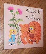 1973 Vintage Children's Pop Up Book  Alice in Wonderland
