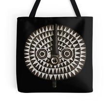 EXCLUSIVE AFRICAN BOBO BWA SUN MASK DESIGN TOTE BAG / Stunning Functional Art