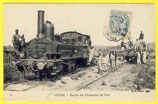 cpa RARE 78 - VERSAILLES 5e Génie ÉCOLE de CHEMIN de FER LOCOMOTIVE Miltaires