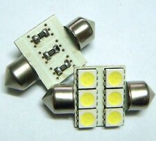 10pcs 33mm 6-5050 SMD LED Festoon Dome Bulb White DC12V NEW *bargain price *