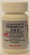 FORMULA 303 Natural Muscle Spasm Relaxer, Ache & Pain Reliever 90 Tablets