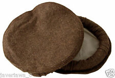 dark brown color Handmade afghan pakol pakul wool hat cap topi for men and women