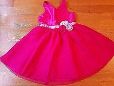 H&M Toddler Girls-Size 3T/4T Bright Pink-Sparkle-Tulle-Tutu-Easter-Summer Dress