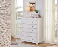 brand new Beata 5 chest of drawers Tallboy in matt white finish
