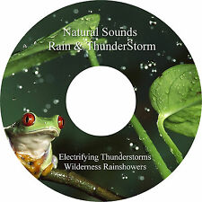 Natural Sounds Rain & Thunderstorms 2 Tracks on 1 CD Relaxation Stress Relief