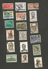 India collection of 364 different commemorative stamps used