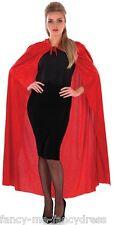 Femme Long Rouge À Capuche Velours Chaperon Manteau Cape Costume Déguisement