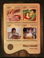 CENTRAL AFRICA 2016 MARY CASSATT  PAINTING SHEET MINT NEVER HINGED