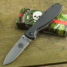 ESEE Zancudo Black Handle Stonewash Finish AUS 8A Framelock Knife BRKR1