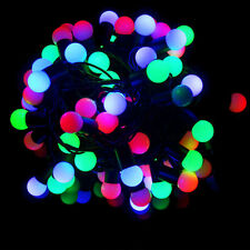 LED Multicolor Bulb Shape Christmas and New Year Decoration Lights 8 Meters