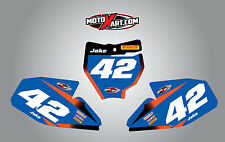 KTM 65 2016 2017 Custom Number Plates Storm Style stickers / decals