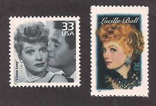 LUCILLE BALL (I LOVE LUCY) - 2 U.S. POSTAGE STAMPS - MINT CONDITION
